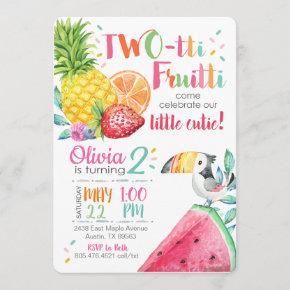 Twotti Fruitti Birthday Invitation