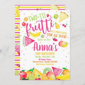 Twotti Frutti Birthday Invitation