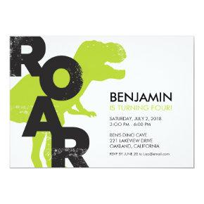Tyrannosaurus Dinosaur Birthday Party Invitations