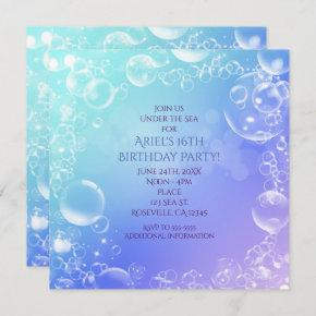 Under the Sea Enchanted Bubbles Party