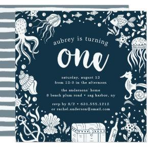 Under the Sea | First Birthday Party Invitation