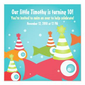 Under the Sea Fish Birthday Party Invitation