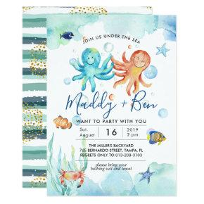 Under the Sea   Joint Pool Party Invitation