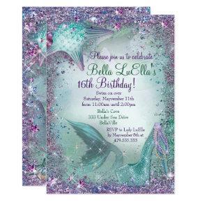 Under the Sea Mermaid Party Invitations