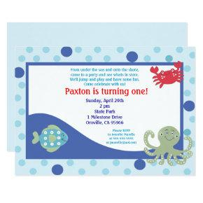 Under the Sea Ocean Birthday Invitation