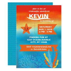 Under The Sea Star Party Invite