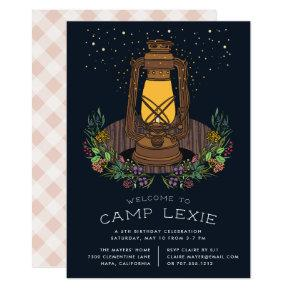 Under the Stars | Camping Birthday Party Invite