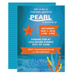 Underwater Adventure Party Invite