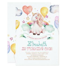 Unicorn Birthday Invitation | Magical Rainbow