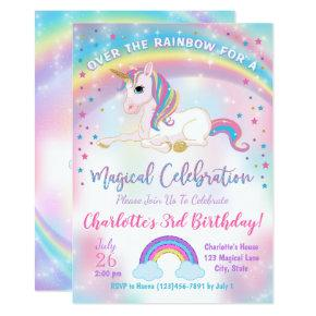Unicorn Birthday Invitations, Unicorn Party Invite