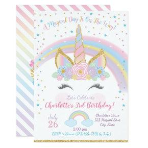 Unicorn Birthday Invitations, Unicorn Party Invite