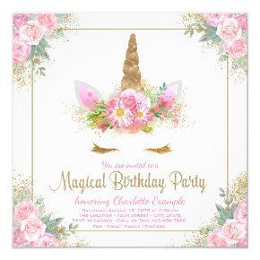 Unicorn Birthday Party Invitations Unicorn Face
