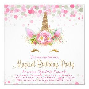 Unicorn Face Girls Birthday Party