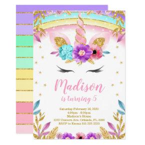 Unicorn Invite, Unicorn Invites, Unicorn Birthday Invitation