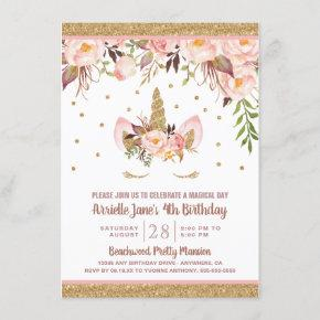 Unicorn Pink and Gold Birthday Party