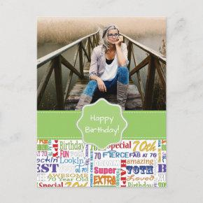 Unique And Special 70th Birthday Party Gifts Invitation PostInvitations