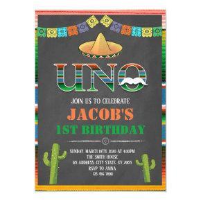 UNO fiesta birthday invitation