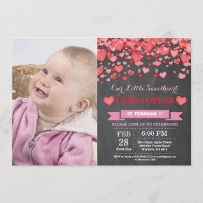 Valentine Birthday Our Little Sweetheart Invitation