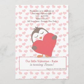 Valentine Penguin Invitation