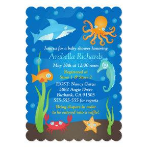 Vibrant Under the Sea Baby Shower