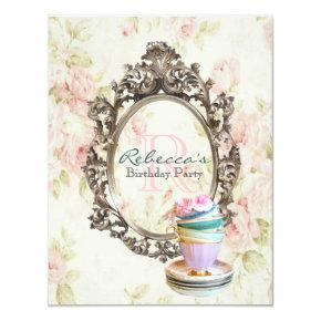 English Tea Party Birthday Invitations Candied Clouds