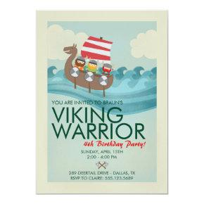 Viking Warrior Birthday Invitation
