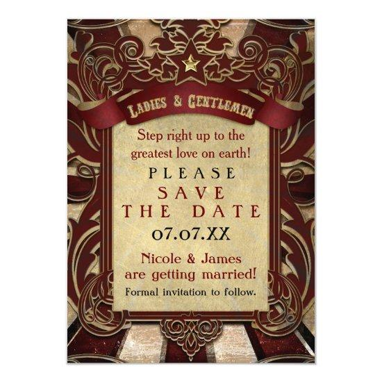 vintage carnival elegant save the date invitations candied clouds