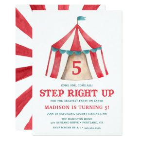Vintage Circus Tent | Birthday Party Invitation