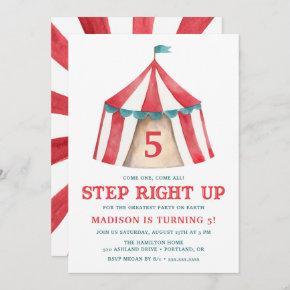 Vintage Circus Tent | Birthday Party Invitation