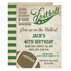 Vintage Football Themed Invite | Old School