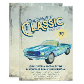 Vintage Garage Poster Party Invitation