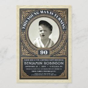 Vintage Milestone Birthday  Your Photo
