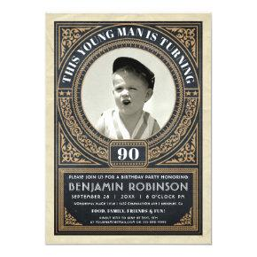 Milestone birthday invitations candied clouds vintage milestone birthday invitations your photo filmwisefo Image collections