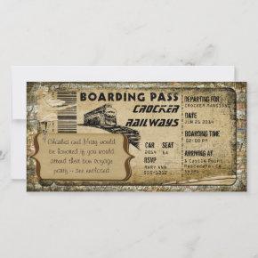 Vintage Train Boarding Pass