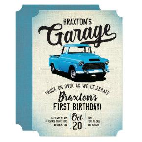 Vintage Truck Birthday Party Invitation
