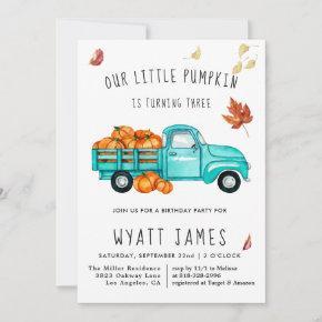 Vintage Truck | Fall Pumpkin Autumn Birthday