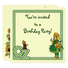 Vintage Wizard of Oz, Birthday Party Invitation