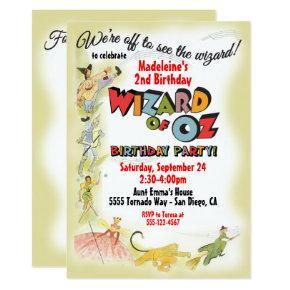 Vintage Wizard of Oz Birthday Party