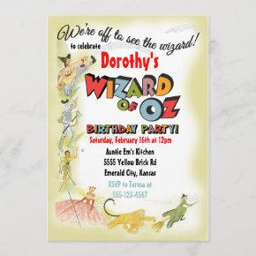 Vintage Wizard of Oz Birthday Party
