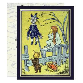 Vintage Wizard of Oz, Dorothy Toto Birthday Party Invitation