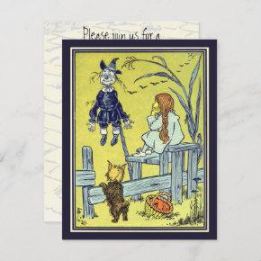 Vintage Wizard of Oz, Dorothy Toto Birthday Party Invitation