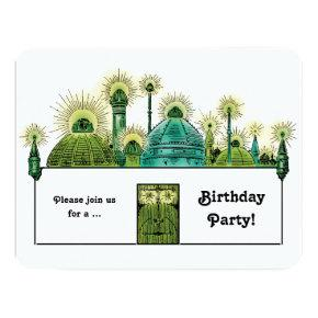 Vintage Wizard of Oz, Emerald City Birthday Party Invitation