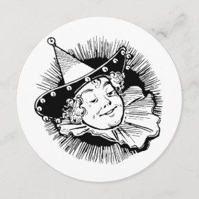 Vintage Wizard of Oz, Munchkin Girl Birthday Party Invitation