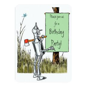Vintage Wizard of Oz Tinman Birthday Invitation
