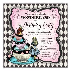 Vintage Wonderland Birthday Party Invitation