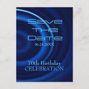 Vortex 70th Birthday Save the Date PostInvitations