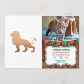 Walking lion silhouette - Choose background color Invitation