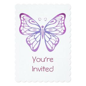Watercolor Butterfly Invite for Birthday Party