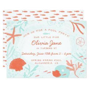 Watercolor Ocean Birthday Invitations