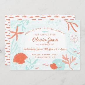 Watercolor Ocean Birthday Invitation